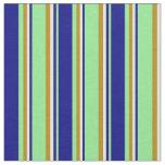 [ Thumbnail: Light Green, Blue, Light Cyan & Dark Goldenrod Fabric ]
