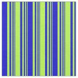 [ Thumbnail: Light Green & Blue Lines Pattern Fabric ]