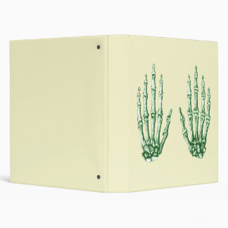 Light Green Bones of the Hand 3 Ring Binder