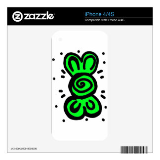 light green bow draw design skins for the iPhone 4