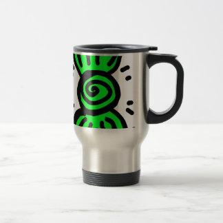 light green bow draw design travel mug