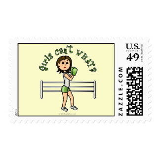 Light Green Boxer Postage Stamp