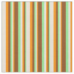 [ Thumbnail: Light Green, Brown, Dark Orange & Bisque Colored Fabric ]