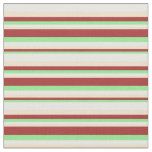 [ Thumbnail: Light Green, Brown, Tan & White Colored Pattern Fabric ]