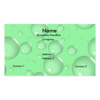 Light Green Bubbles Business Cards