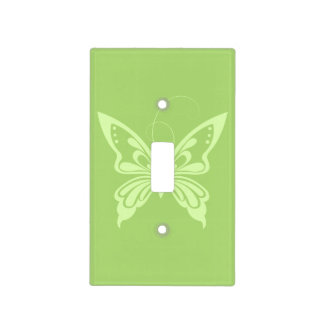 Light Green Butterfly Design Light Switch Cover
