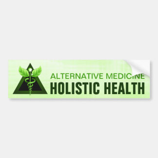 Light Green Caduceus Alternative Medicine Auto Bumper Sticker