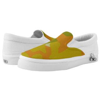 Light Green Camo Slip-on Tennis Shoes