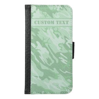 Light Green Camo Smartphone Wallet w/ Text