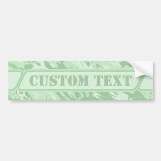 Light Green Camouflage Bumper Sticker