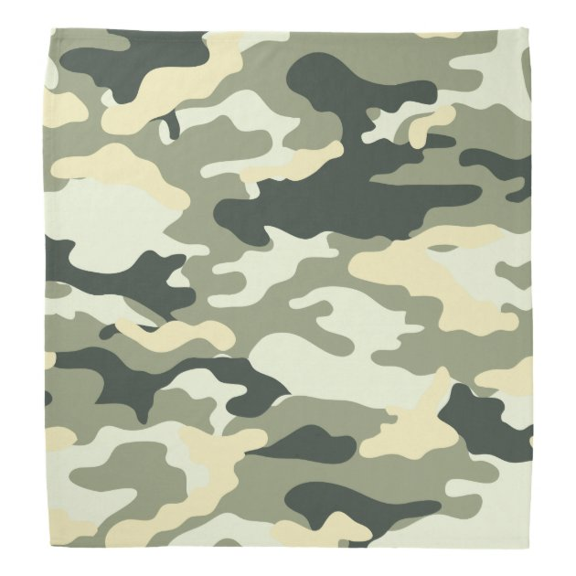 light green camouflage pattern bandana