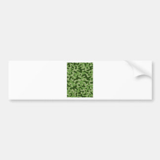 Light Green Camouflage Pattern Bumper Sticker