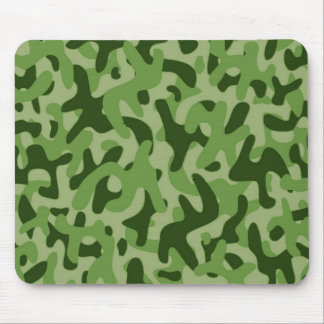 Light Green Camouflage Pattern Mouse Pad