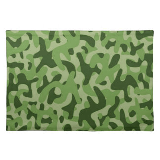 Light Green Camouflage Pattern Placemat