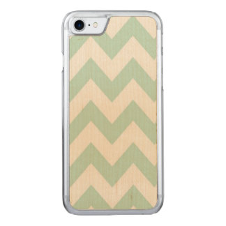 Light Green Chevron Carved iPhone 7 Case