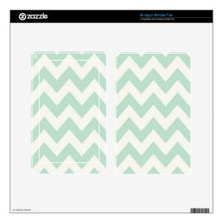 Light Green Chevron Kindle Fire Decals