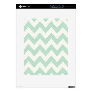 Light Green Chevron Skin For iPad