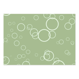 Light Green Circle Bubbles Business Cards
