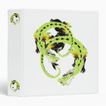 Light Green Coiled Dragon 3 Ring Binder