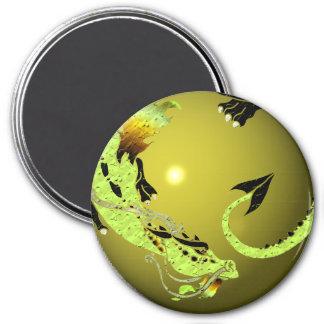 Light Green Coiled Dragon Magnet