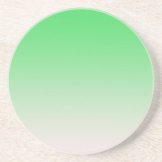 Light green  color gradient beverage coasters