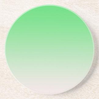 Light green  color gradient sandstone coaster