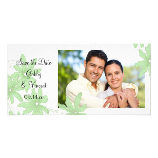 Light Green Daisies Wedding Save the Date Card
