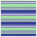 [ Thumbnail: Light Green, Dark Blue, Bisque, and Slate Blue Fabric ]