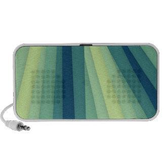 Light Green Dark Blue Plate Travelling Speaker