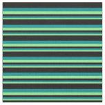 [ Thumbnail: Light Green, Dark Cyan, and Black Pattern Fabric ]
