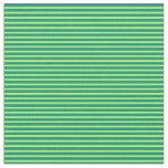[ Thumbnail: Light Green & Dark Cyan Colored Lined Pattern Fabric ]