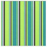 [ Thumbnail: Light Green, Dark Cyan, Light Cyan & Black Lines Fabric ]