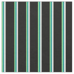 [ Thumbnail: Light Green, Dark Cyan, Light Cyan & Black Lines Fabric ]