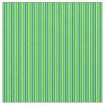 [ Thumbnail: Light Green & Dark Cyan Pattern of Stripes Fabric ]