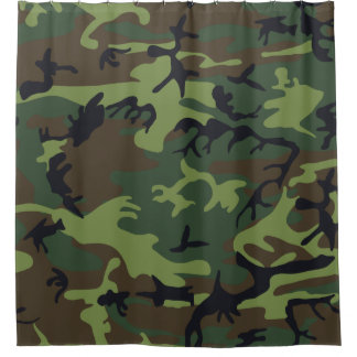 Green Camo Shower Curtains | Zazzle