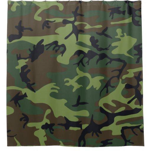 Light Green Dark Green Black Camo Camouflage Shower