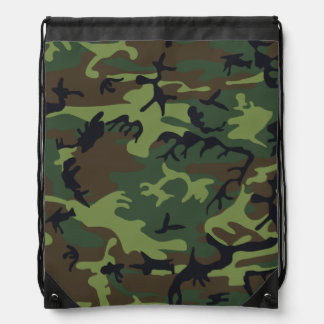 Light Green, Dark Green, Brown, Black Camouflage Backpack