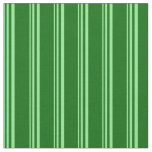 [ Thumbnail: Light Green & Dark Green Colored Lines Fabric ]