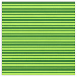[ Thumbnail: Light Green & Dark Green Lined/Striped Pattern Fabric ]