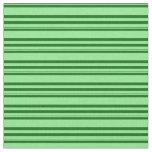 [ Thumbnail: Light Green & Dark Green Stripes Pattern Fabric ]