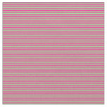 [ Thumbnail: Light Green & Deep Pink Colored Lines Pattern Fabric ]