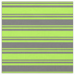 [ Thumbnail: Light Green & Dim Grey Colored Pattern Fabric ]