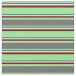 [ Thumbnail: Light Green, Dim Grey, Turquoise & Maroon Colored Fabric ]