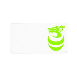 Light Green dragon in Egg Label