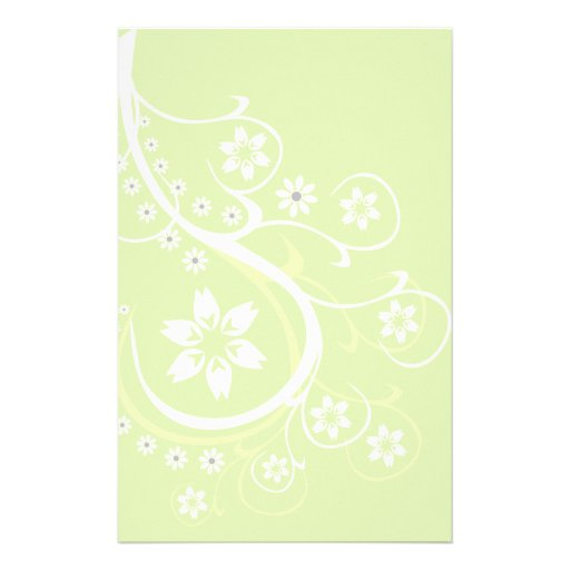 Light Green Dream Stationery-Floral