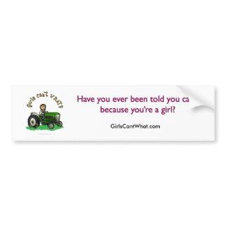 Light Green Farmer Bumper Sticker