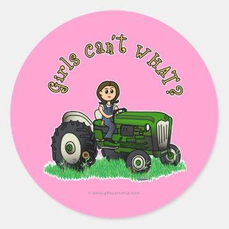 Light Green Farmer Girl Sticker