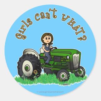 Light Green Farmer Girl Stickers