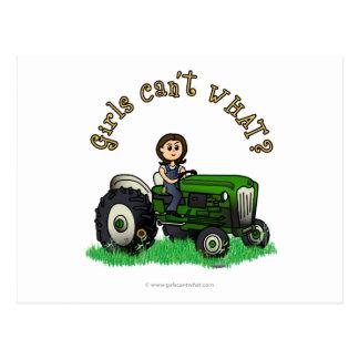 Light Green Farmer Postcard