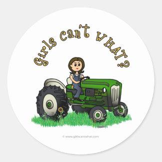 Light Green Farmer Stickers